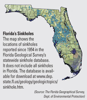 map of sinkhole locations in florida and sink hole alley