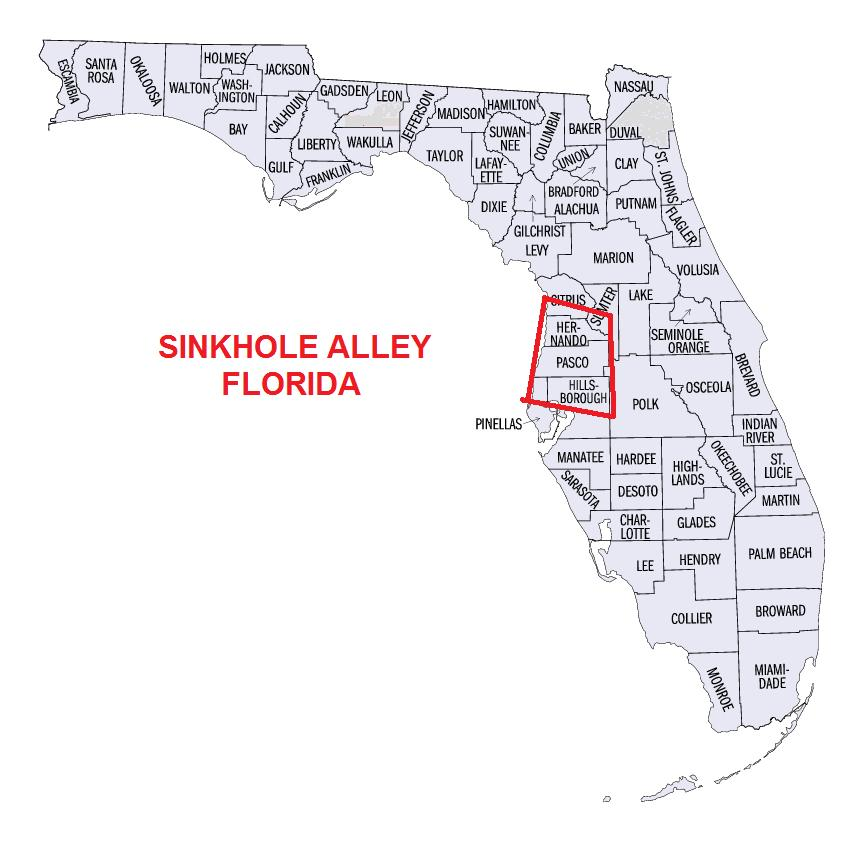 sinkhole alley map florida